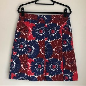 Boden floral skirt sz 10 long red and blue
